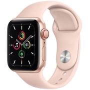 Apple Watch SE(GPS + Cellularモデル)- 40mmゴールドアルミニウムケースとピンクサンドスポーツバンド [MYEH2J/A]