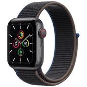 Apple Watch SE(GPS + Cellularモデル)- 40mmスペースグレイアルミニウムケースとチャコールスポーツループ [MYEL2J/A]