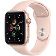 Apple Watch SE(GPS + Cellularモデル)- 44mmゴールドアルミニウムケースとピンクサンドスポーツバンド [MYEX2J/A]