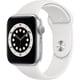 Apple Watch Series 6(GPSモデル)- 44mmシルバーアルミニウムケースとホワイトスポーツバンド [M00D3J/A]