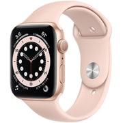 Apple Watch Series 6(GPSモデル)- 44mmゴールドアルミニウムケースとピンクサンドスポーツバンド [M00E3J/A]