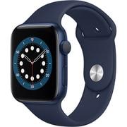 Apple Watch Series 6(GPSモデル)- 44mmブルーアルミニウムケースとディープネイビースポーツバンド [M00J3J/A]