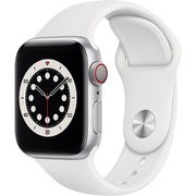 Apple Watch Series 6(GPS + Cellularモデル)- 40mmシルバーアルミニウムケースとホワイトスポーツバンド [M06M3J/A]