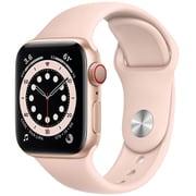 Apple Watch Series 6(GPS + Cellularモデル)- 40mmゴールドアルミニウムケースとピンクサンドスポーツバンド [M06N3J/A]