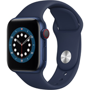 Apple Watch Series 6(GPS + Cellularモデル)- 40mmブルーアルミニウムケースとディープネイビースポーツバンド [M06Q3J/A]