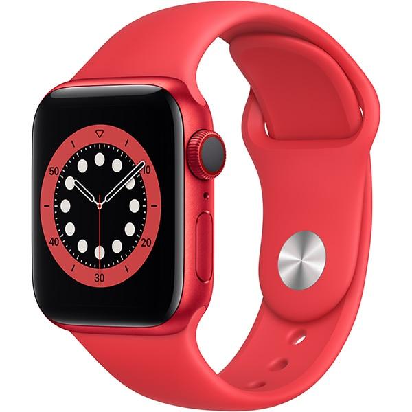Apple Watch Series 6(GPS + Cellularモデル)- 40mm (PRODUCT)REDアルミニウムケースと(PRODUCT)REDスポーツバンド [M06R3J/A]