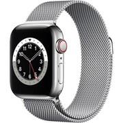 Apple Watch Series 6(GPS + Cellularモデル)- 40mmシルバーステンレススチールケースとシルバーミラネーゼループ [M06U3J/A]