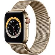 Apple Watch Series 6(GPS + Cellularモデル)- 40mmゴールドステンレススチールケースとゴールドミラネーゼループ [M06W3J/A]