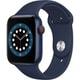 Apple Watch Series 6(GPS + Cellularモデル)- 44mmブルーアルミニウムケースとディープネイビースポーツバンド [M09A3J/A]