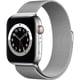 Apple Watch Series 6(GPS + Cellularモデル)- 44mmシルバーステンレススチールケースとシルバーミラネーゼループ [M09E3J/A]