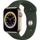 Apple Watch Series 6(GPS + Cellularモデル)- 44mmゴールドステンレススチールケースとキプロスグリーンスポーツバンド [M09F3J/A]