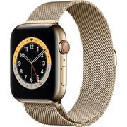 Apple Watch Series 6(GPS + Cellularモデル)- 44mmゴールドステンレススチールケースとゴールドミラネーゼループ [M09G3J/A]