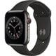 Apple Watch Series 6(GPS + Cellularモデル)- 44mmグラファイトステンレススチールケースとブラックスポーツバンド [M09H3J/A]