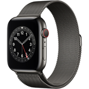 Apple Watch Series 6(GPS + Cellularモデル)- 44mmグラファイトステンレススチールケースとグラファイトミラネーゼループ [M09J3J/A]
