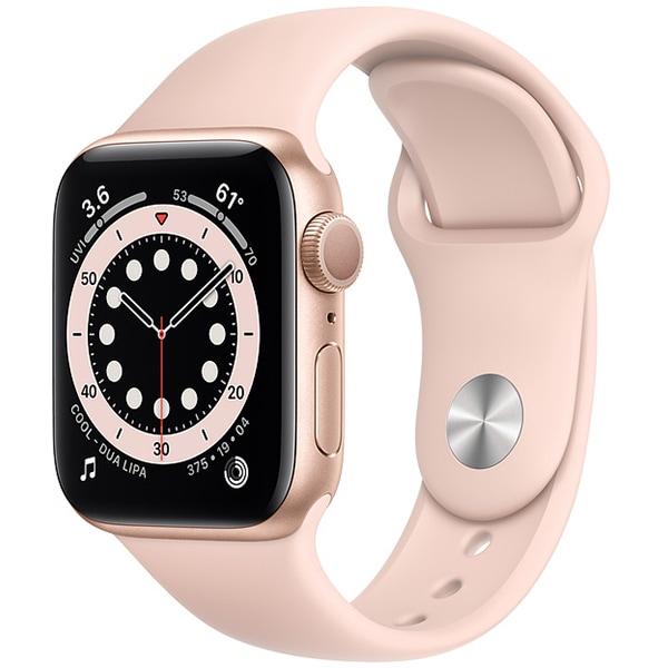 Apple Watch Series 6(GPSモデル)- 40mmゴールドアルミニウムケースとピンクサンドスポーツバンド [MG123J/A]