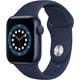 Apple Watch Series 6(GPSモデル)- 40mmブルーアルミニウムケースとディープネイビースポーツバンド [MG143J/A]