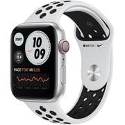 Apple Watch Nike Series 6(GPS + Cellularモデル)- 44mmシルバーアルミニウムケースとピュアプラチナム/ブラックNikeスポーツバンド [M09W3J/A]