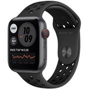 Apple Watch Nike Series 6(GPS + Cellularモデル)- 44mmスペースグレイアルミニウムケースとアンスラサイト/ブラックNikeスポーツバンド [M09Y3J/A]