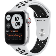 Apple Watch Nike SE(GPS + Cellularモデル)- 44mmシルバーアルミニウムケースとピュアプラチナム/ブラックNikeスポーツバンド [MG083J/A]