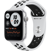 Apple Watch Nike Series 6(GPSモデル)- 44mmシルバーアルミニウムケースとピュアプラチナム/ブラックNikeスポーツバンド [MG293J/A]