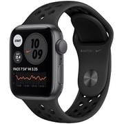 Apple Watch Nike SE(GPSモデル)- 40mmスペースグレイアルミニウムケースとアンスラサイト/ブラックNikeスポーツバンド [MYYF2J/A]