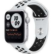 Apple Watch Nike SE(GPSモデル)- 44mmシルバーアルミニウムケースとピュアプラチナム/ブラックNikeスポーツバンド [MYYH2J/A]