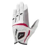 5MJML05101 [ゴルフグローブ W-GRIP(ダブルグリップ) メンズ 左手用 23cm ホワイト×レッド 2020年モデル]