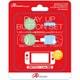Switch/Switch Lite用 プレイアップボタンセット ライトブルー&ライトグリーン