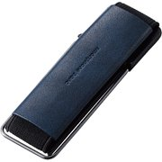 P-STBLSNV [スマートフォン用ストラップ/スマホバンド/レザー/スタンド機能/ネイビー]