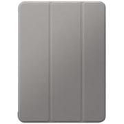LP-ITAM20CNTGY [iPad Air 2020 (10.9インチ) 背面クリア フラップケース Clear Note グレー]