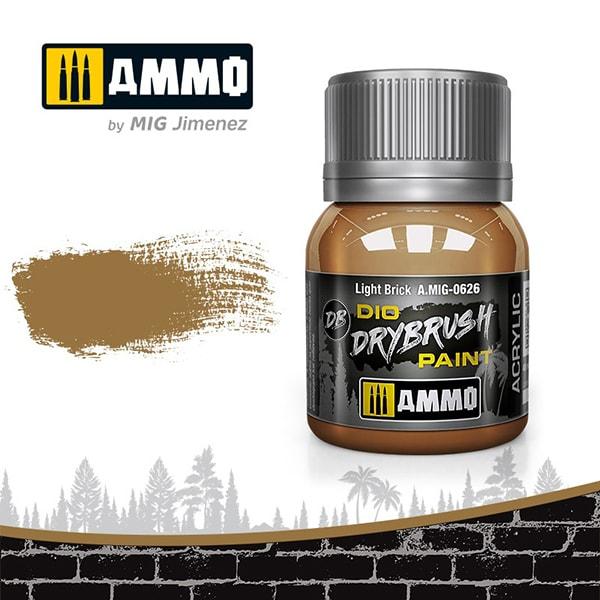 AMO-0626 ダイオ ドライブラシペイント:ライトブリック [水性ドライブラシ専用塗料]