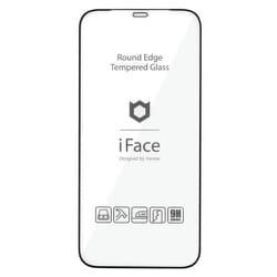iFace ラウンドエッジ ガラスシート iPhone 12/iPhone 12 Pro用 BK
