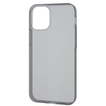 PM-A20AUCUBK [iPhone 12 mini 用 ソフトケース/薄型/ブラック]