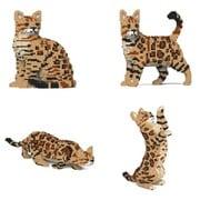 ST19BGC01-M01 猫シリーズ 01S-M01 ベンガル 4-in-1パック [ブロック玩具]