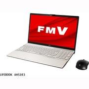 FMVA55E3GC [ノートパソコン LIFEBOOK AHシリーズ/15.6型ワイド/Core i7-1165G7/メモリ 8GB/Optane32GB+SSD 512GB/DVDスーパーマルチドライブ/Windows 10 Home 64ビット/Office Home and Business 2019/シャンパンゴールド/ヨドバシカメラ限定モデル]