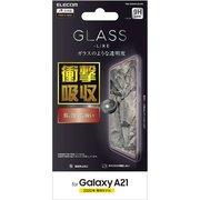 PM-G204FLGLPN [Galaxy A21 用 ガラスライクフィルム/衝撃吸収]