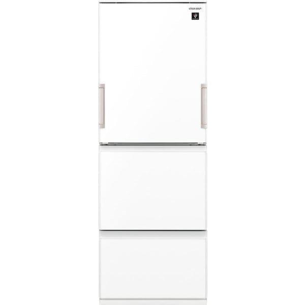 SJ-GW35G-W [プラズマクラスター冷蔵庫 (350L・どっちもドア) 3ドア 除菌機能 ピュアホワイト]