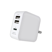 AKJ-36PD3 WH [Power Delivery対応 AC充電 3.6A USB-Type A×2/USB-Type-C×1 ホワイト]