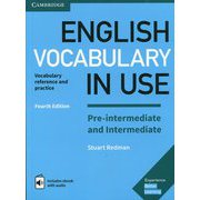 English Vocabulary in Use Pre-intermediate and Intermediate 4th Edition Book with answers and Enhanced eBook [洋書ELT]