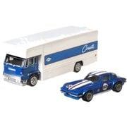 ホットウィール GJT41 トランスポーター:FLEET FLYER 積載車両:CUSTOM CORVETTE STINGRAY COUPE [ミニカー]