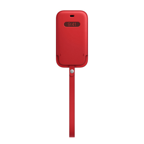 MHMR3FE/A [MagSafe対応 iPhone 12 mini 用 レザースリーブ (PRODUCT)RED]