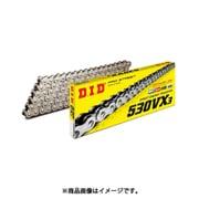 530VX3 110ZB [カシメ SILVER(シルバー) バイク用チェーン]