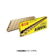 530VX3 110ZB [カシメ G&G(ゴールド) バイク用チェーン]