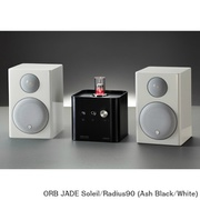 JADE Soleil/Radius90 (As/Wh) [ヘッドフォンアンプ内蔵プリメインアンプ+コンパクト2wayモニタースピーカー コラボレーションシステム Ash Black(JADE Soleil)×White(Radius90)]