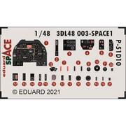 EDU3DL48003 P-51D-10 スペース 内装3Dデカール w/エッチングパーツセット エデュアルド用 [1/48スケール ディティールアップパーツ]