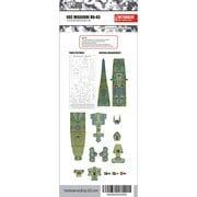 FLYM700038 アメリカ海軍 戦艦 ミズーリ BB-63 甲板マスキングシート タミヤ 31613用 [1/700スケール 甲板塗装用マスキングシート]