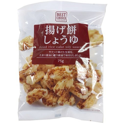 ベストチョイス 揚げ餅しょうゆ 75g [せんべい・米菓]