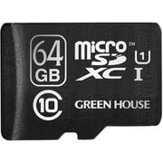 GH-SDM-B64G [microSDXCカード UHS-I U1 クラス10 64GB 最大読込80MB/s 3年保証 アダプタ付属]
