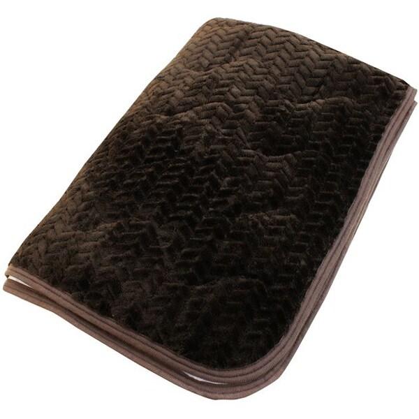 DN1011-93 [あったかフランネル 敷パッド 抗菌防臭加工 シングルサイズ(約100×205cm) ブラウン]