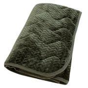 DN1011-53 [あったかフランネル 敷パッド 抗菌防臭加工 シングルサイズ(約100×205cm) ダークグリーン]